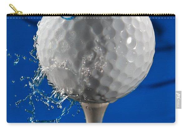 Blue Golf Ball Splash Carry-all Pouch