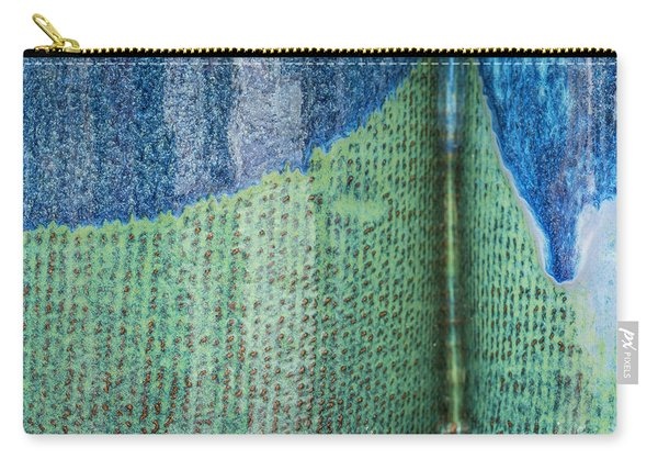 Blue/green Abstract Carry-all Pouch