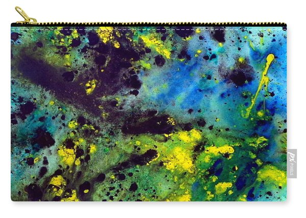 Blue Green Chaos Carry-all Pouch