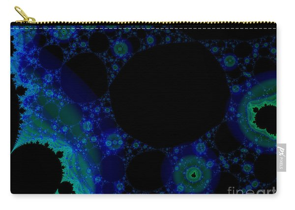 Blue Green Galaxy Fractal Carry-all Pouch