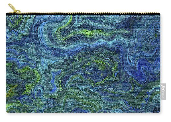 Blue Green Texture Carry-all Pouch