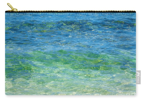 Blue Green Waves Carry-all Pouch