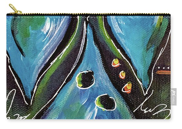 Blue Hearts Carry-all Pouch