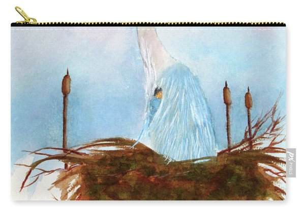 Blue Heron Nesting Carry-all Pouch