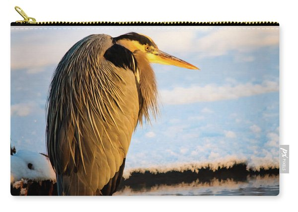 Blue Heron Resting Carry-all Pouch
