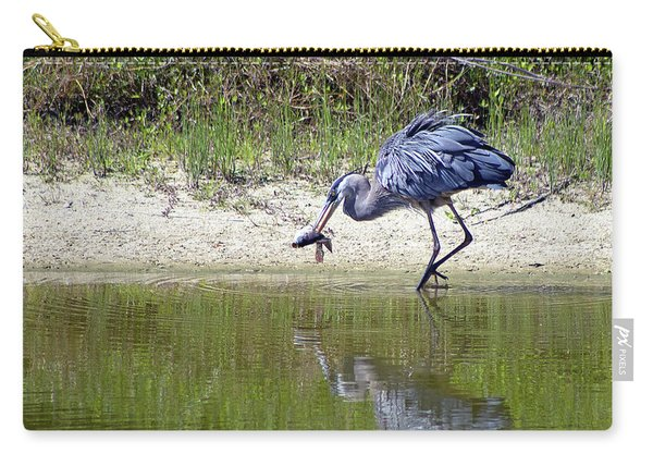 Blue Heron's Lucky Day Carry-all Pouch