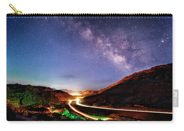 Blue Hour Milky Way Over Moab Carry-all Pouch