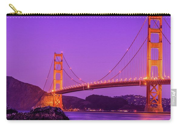Golden Gate Bridge In The Blue Hour Carry-all Pouch
