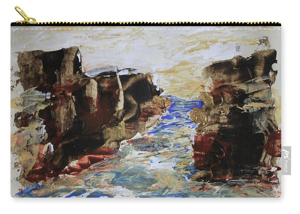 Blue Inlet Abstract Carry-all Pouch