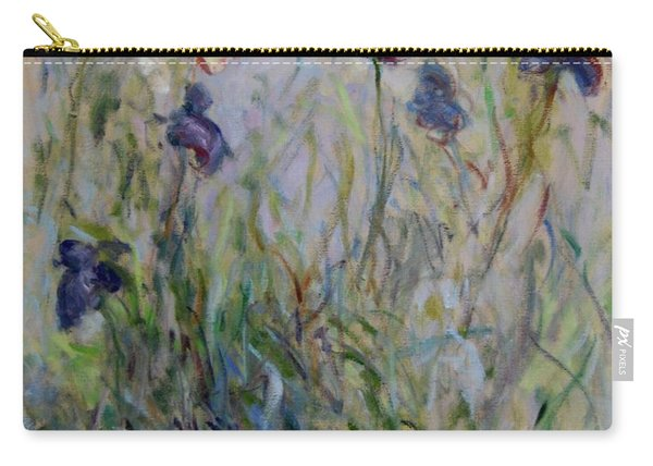 Blue Irises In The Field, Painted In The Open Air  Carry-all Pouch