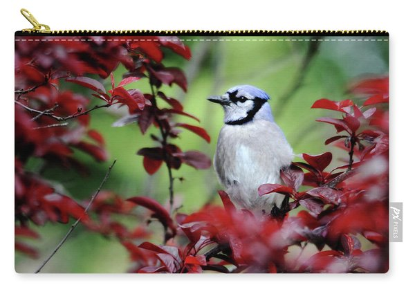 Blue Jay In The Plum Tree Carry-all Pouch