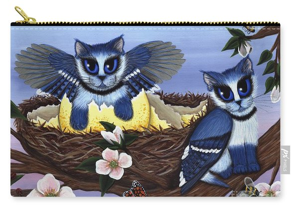 Blue Jay Kittens Carry-all Pouch