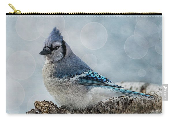 Blue Jay Perch Carry-all Pouch
