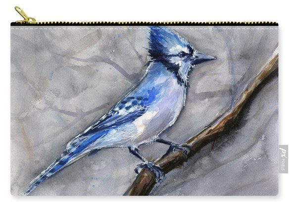 Blue Jay Watercolor Carry-all Pouch