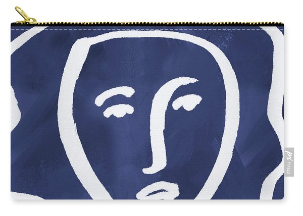 Blue Lady- Art By Linda Woods Carry-all Pouch