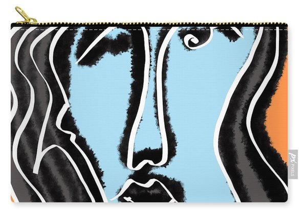 Blue Lady Carry-all Pouch