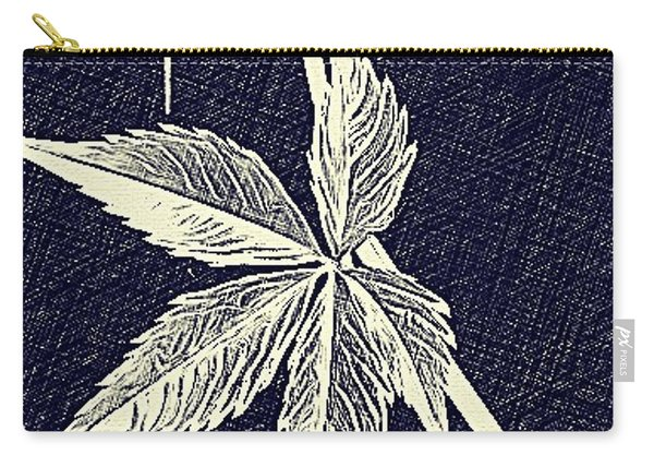 Blue Leaf Carry-all Pouch