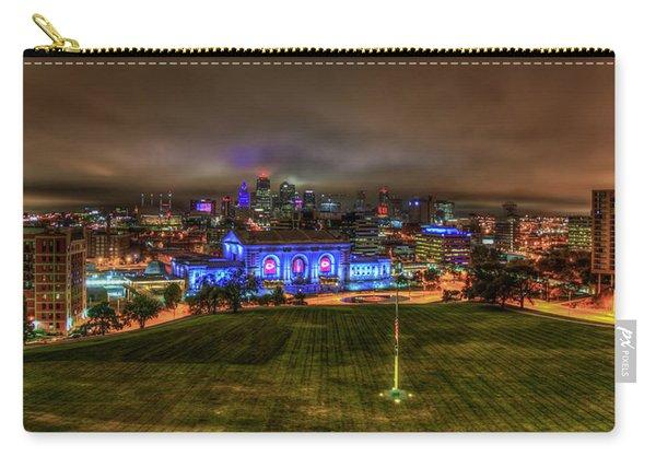 Blue Lights On Kansas City Union Station Kansas City Missouri Art Carry-all Pouch
