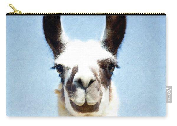 Blue Llama Carry-all Pouch