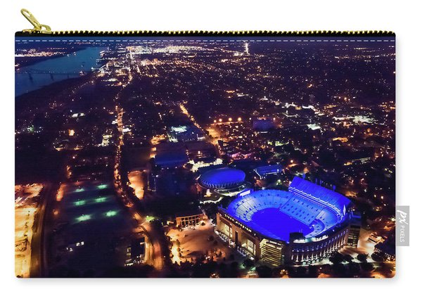 Blue Lsu Tiger Stadium Carry-all Pouch