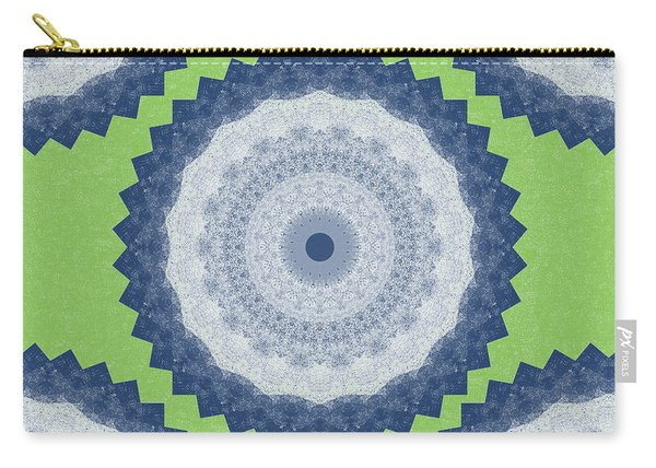 Blue Mandala- Art By Linda Woods Carry-all Pouch