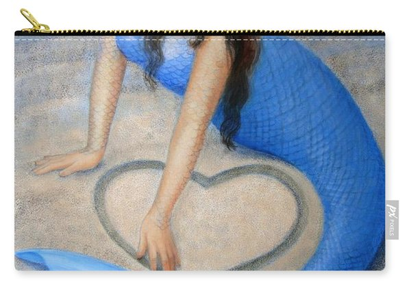 Blue Mermaid's Heart Carry-all Pouch