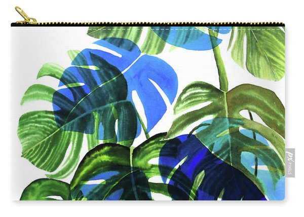 Blue Monstera Carry-all Pouch