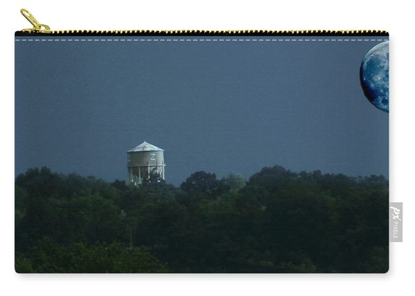 Blue Moon Over Zanesville Water Tower Carry-all Pouch