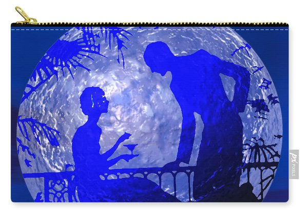 Blue Moonlight Lovers Carry-all Pouch