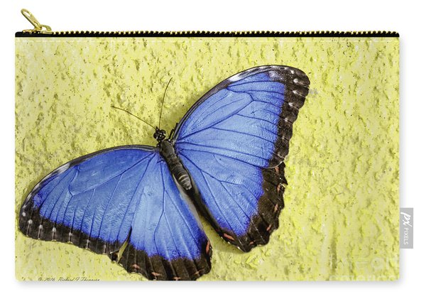 Carry-all Pouch featuring the photograph Blue Morpho Butterfly by Richard J Thompson