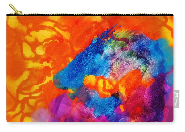 Blue On Orange Carry-all Pouch