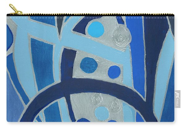Blue On Silver Carry-all Pouch