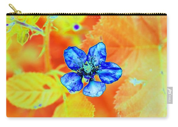 Blue On Yellow Carry-all Pouch