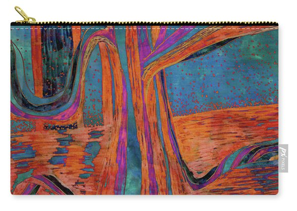 Blue-orange Warm Dusk River Tree Carry-all Pouch
