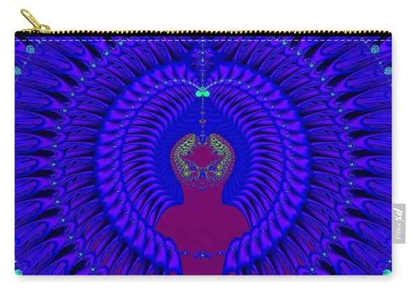 Blue Peacock Fractal 92 Carry-all Pouch