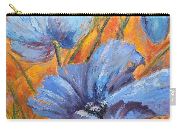 Blue Poppies Carry-all Pouch