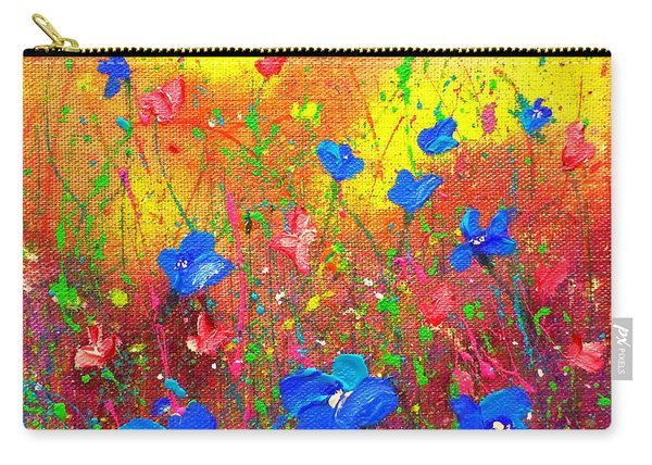 Blue Posies Carry-all Pouch