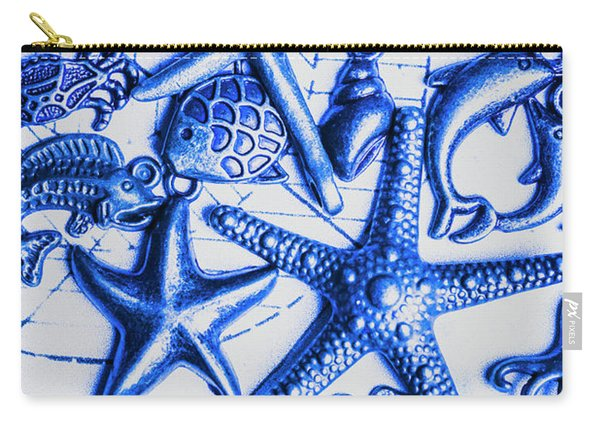 Blue Reef Abstract Carry-all Pouch