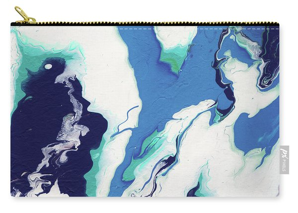 Blue Rhapsody- Art By Linda Woods Carry-all Pouch