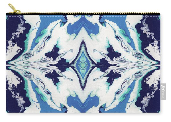 Blue Rhapsody Double- Art By Linda Woods Carry-all Pouch