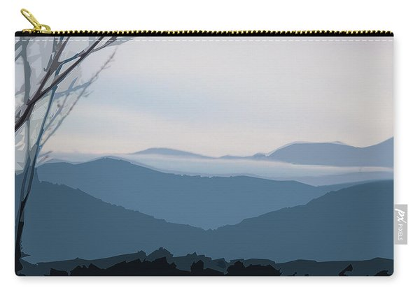 Carry-all Pouch featuring the digital art Blue Ridge Above The Clouds by Gina Harrison