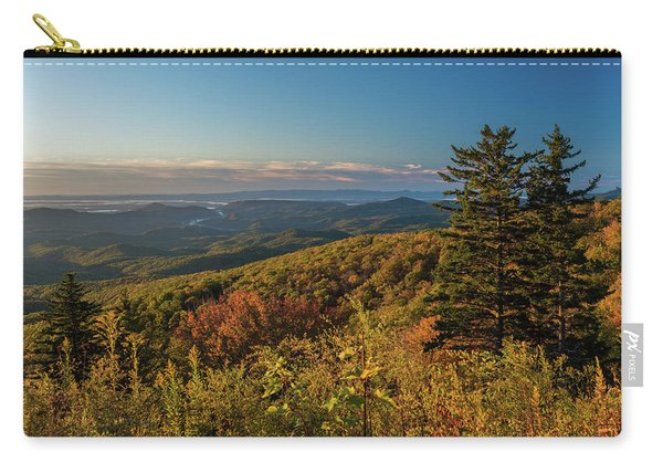 Blue Ridge Mountain Autumn Vista Carry-all Pouch