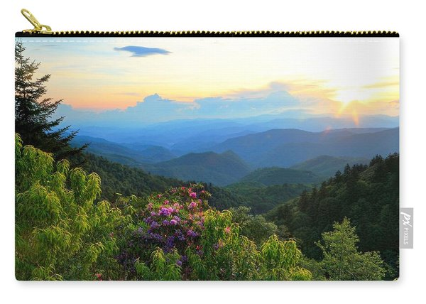 Blue Ridge Parkway And Rhododendron  Carry-all Pouch
