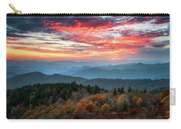 Blue Ridge Parkway Autumn Sunset Scenic Landscape Asheville Nc Carry-all Pouch