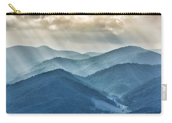 Blue Ridge Sunset Rays Carry-all Pouch