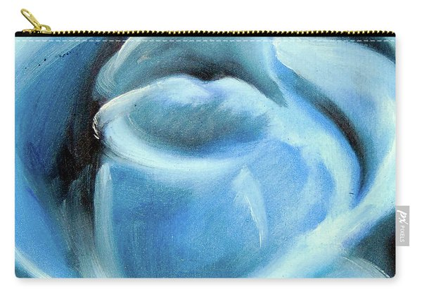Carry-all Pouch featuring the painting Blue Rose by Loretta Nash