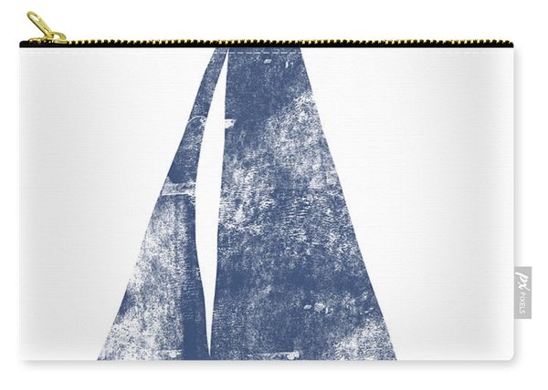 Blue Sail Boat- Art By Linda Woods Carry-all Pouch