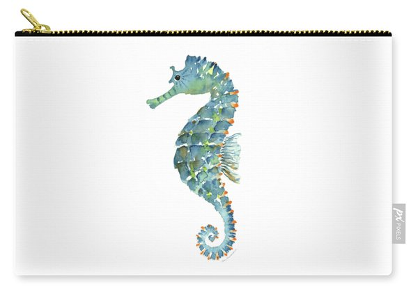 Blue Seahorse Carry-all Pouch