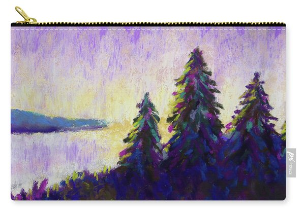 Blue Shadows At Dusk Carry-all Pouch