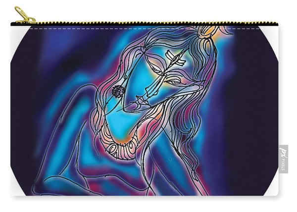 Blue Shiva Light Carry-all Pouch
